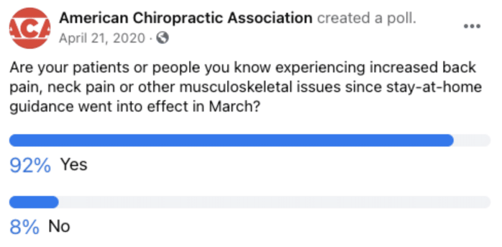 Musculoskeletal issues poll